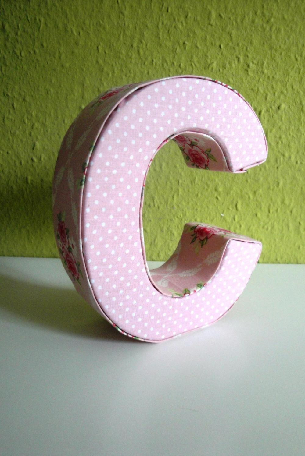 covering 3d letters with fabric
